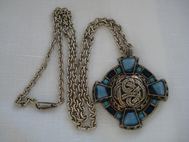 Vintage Signed Miracle Celtic Cross Pendant Sold